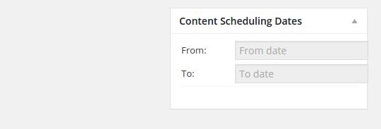 content scheduler date settings