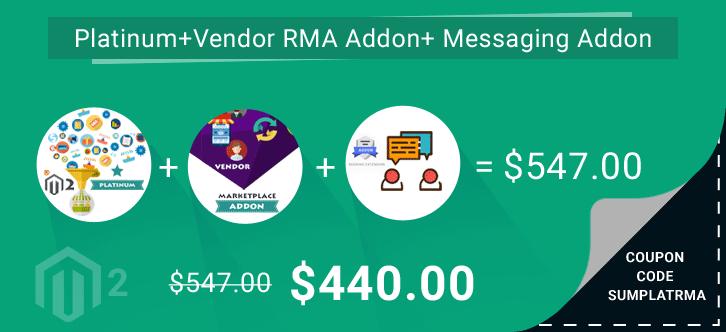 Multi Vendor Marketplace Platinum + Vendor RMA Addon +Vendor Messaging Addon at $440 ( 57% OFF )| Coupon Code – SUMPLATRMA