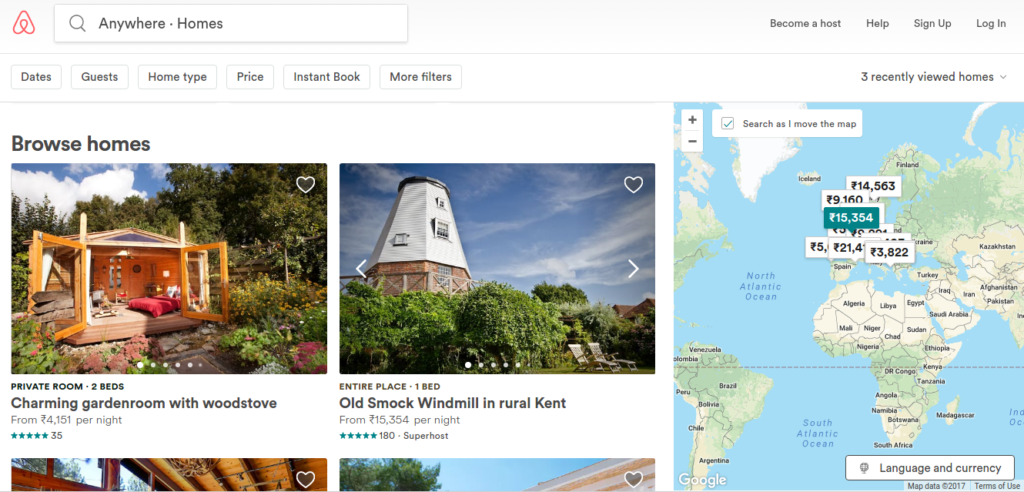 website like Airbnb