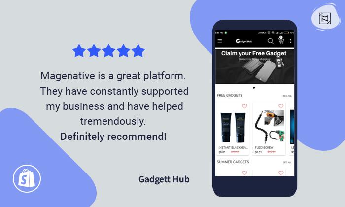 MageNative Shopify Mobile App Review