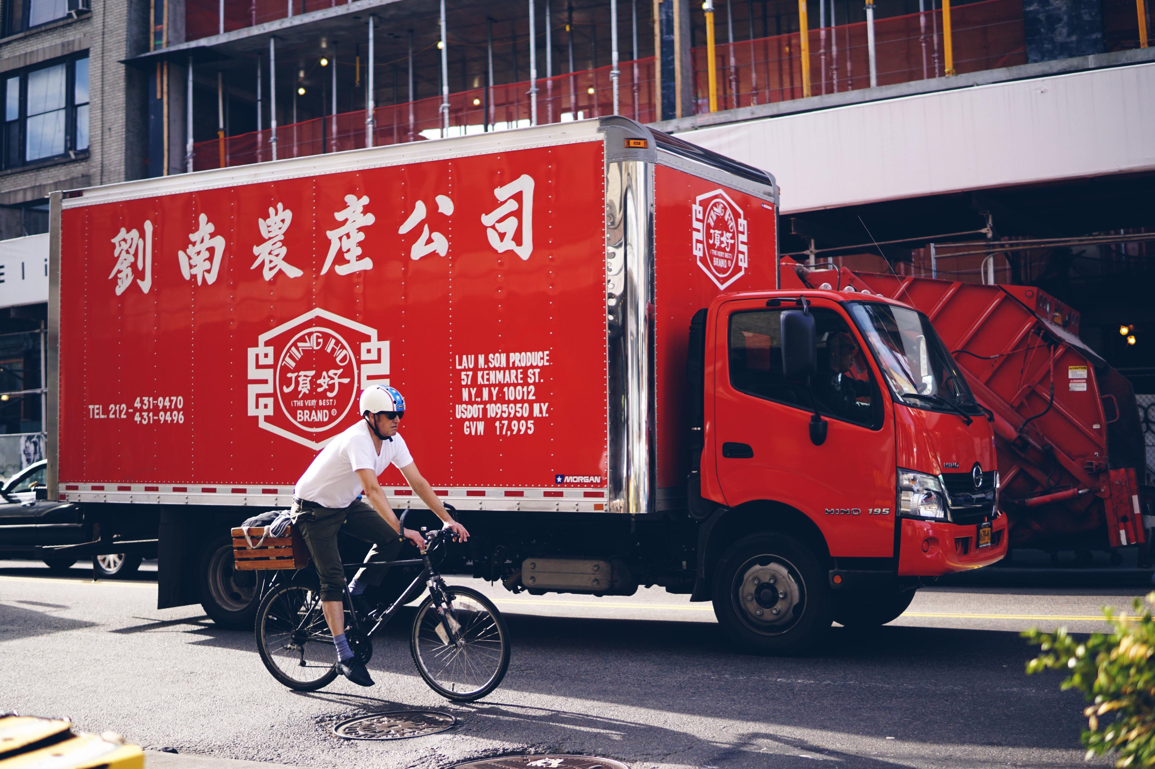 chinese new year delivery truck