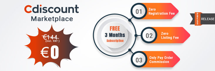 3 moth freee cdiscount subscription CedCommerce
