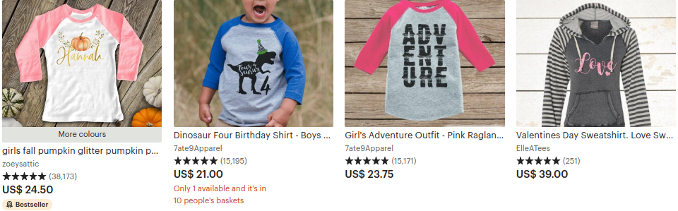 top selling items on etsy