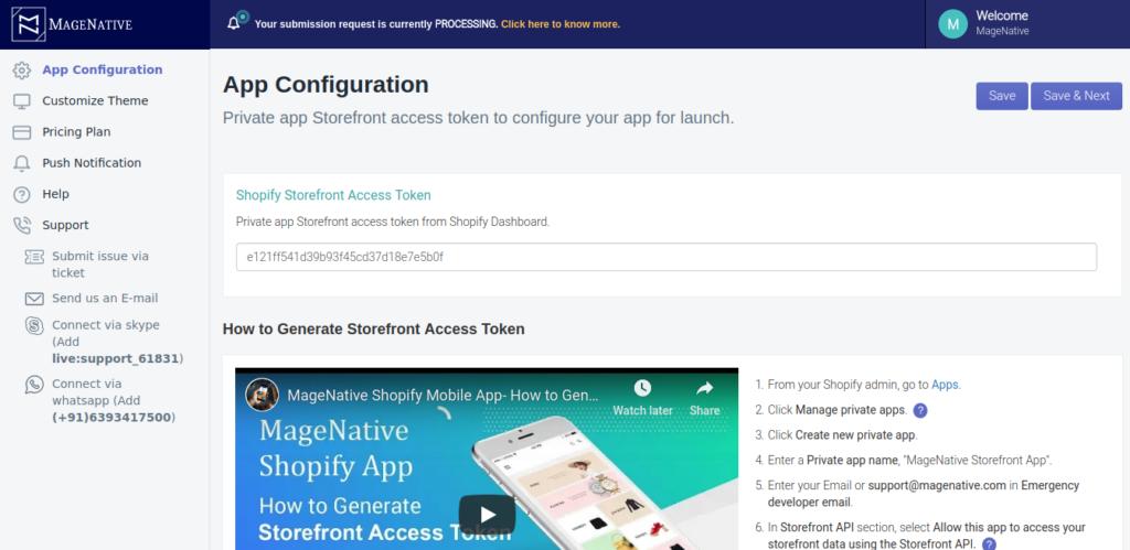 convert online store to app