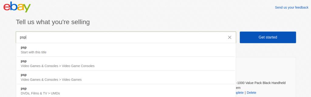 eBay's listing suggestions | eBay listing