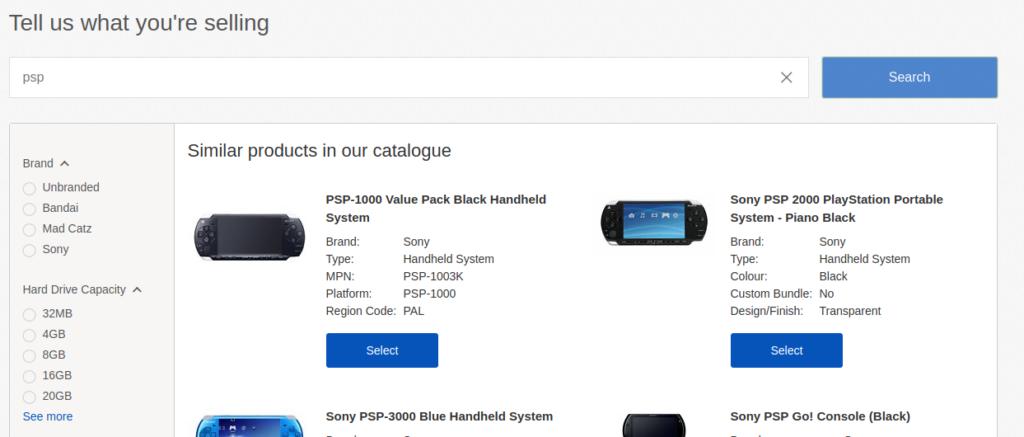 similar product list | eBay listing