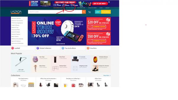 Lazada online seller registration