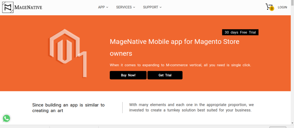 how to convert your magento store into app