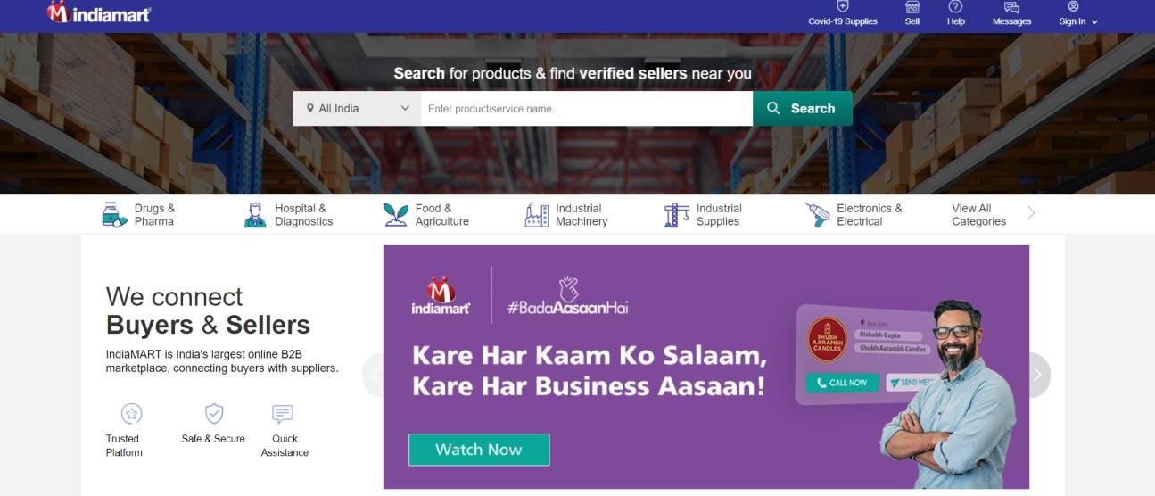 B2B eCommerce- Indiamart