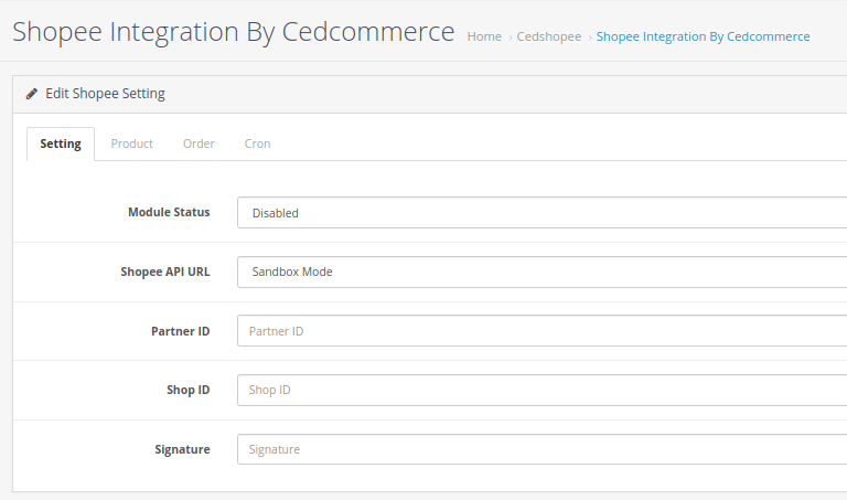 Shopee Opencart Integration by CedCommerce