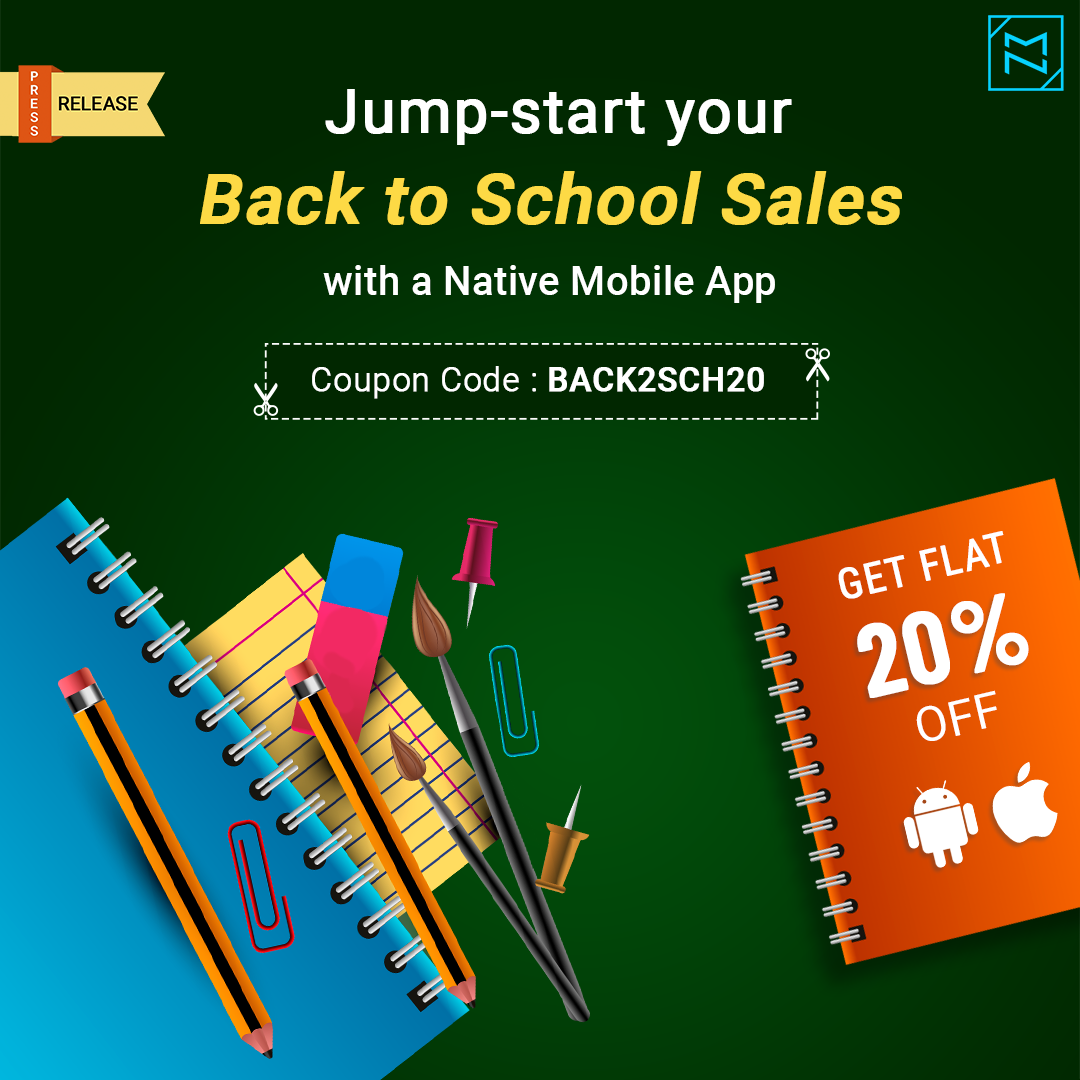 Begin Your Back to School Sales with a Bang: 20% off on