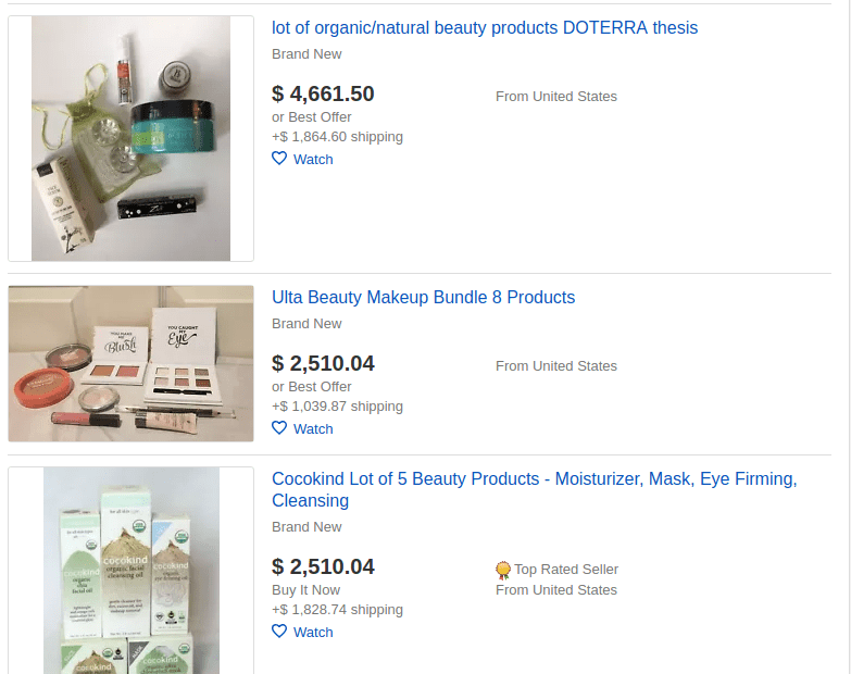 ebay best selling items-beauty products