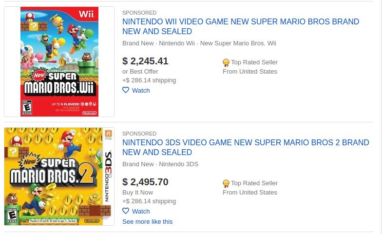 eBay games category