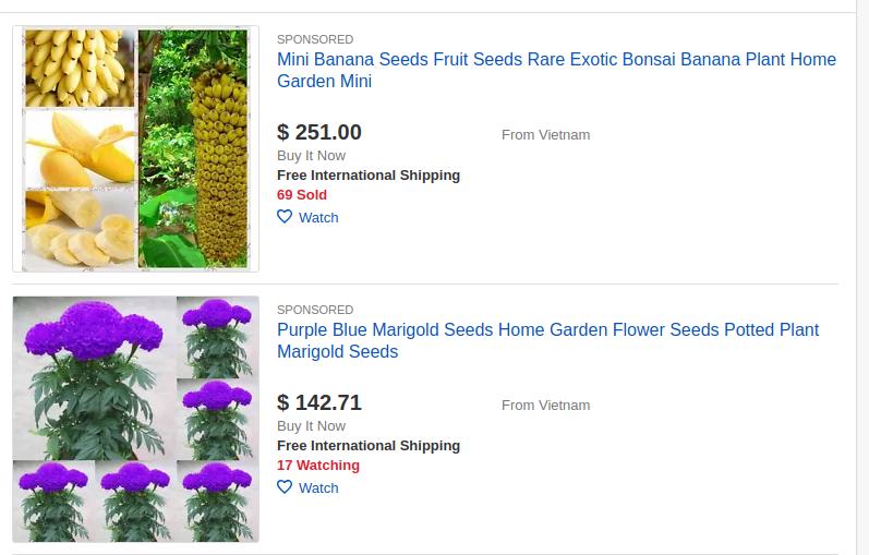 ebay gardening category