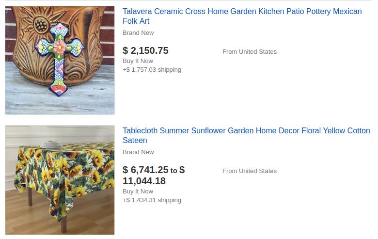 ebay home decor category