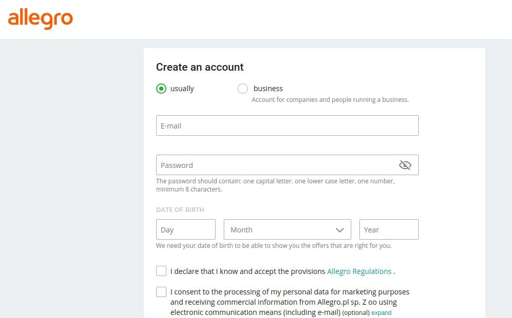 allegro-seller-registration-process