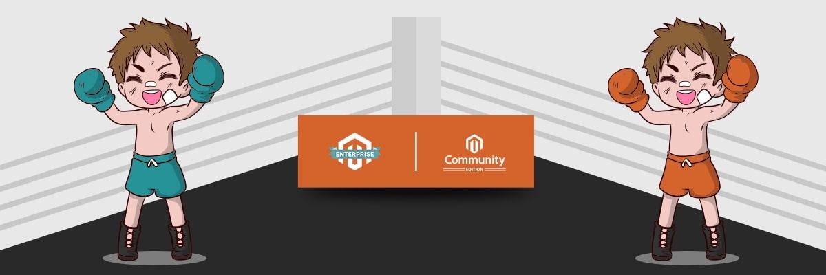Magento Enterprise edition (Magento Commerce) vs Magento Community edition (Magento Opensource) banner