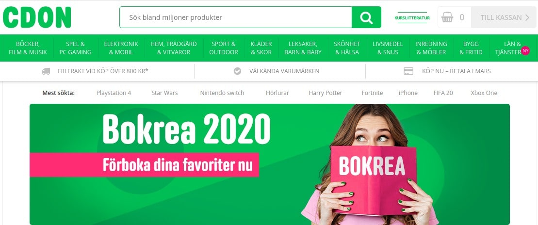 cdon eCommerce in Nordic