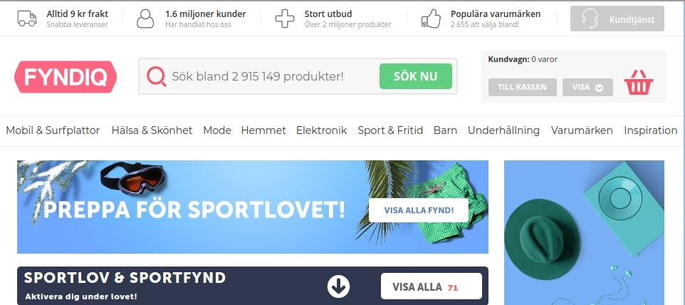 fyndiq eCommerce in Nordic