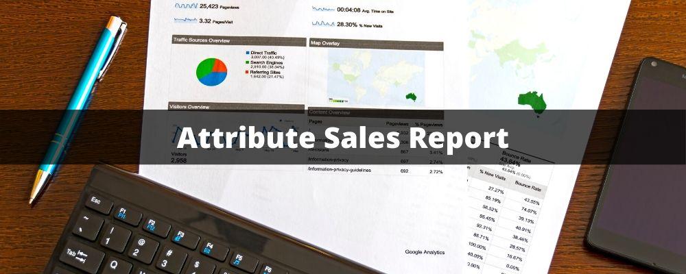 Attribute Sales report