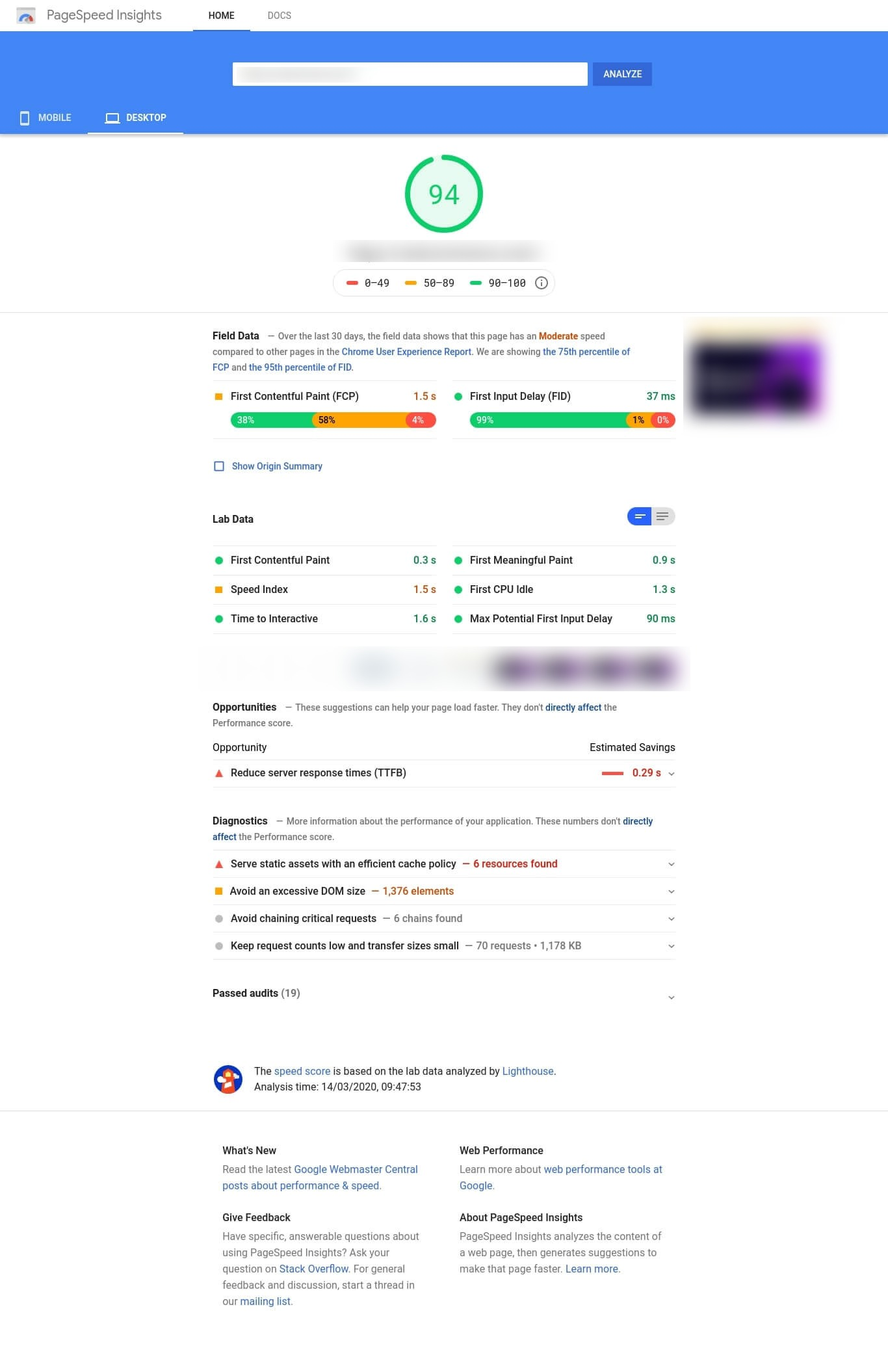 page speed insights analysis for slow magento store