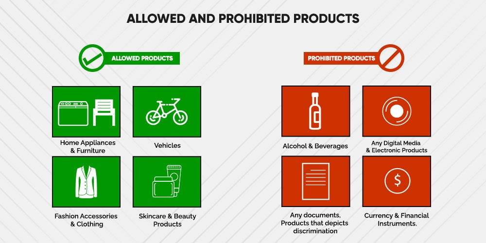 Best products to sell and prohibited products