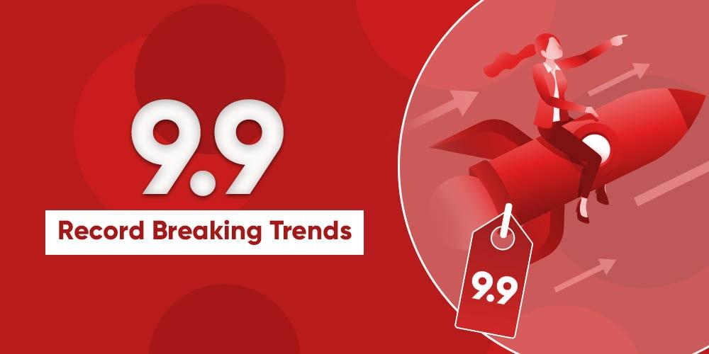 record breaking trends in 9.9 shopping festival