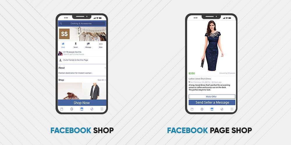 Facebook shop and Facebook Page shop