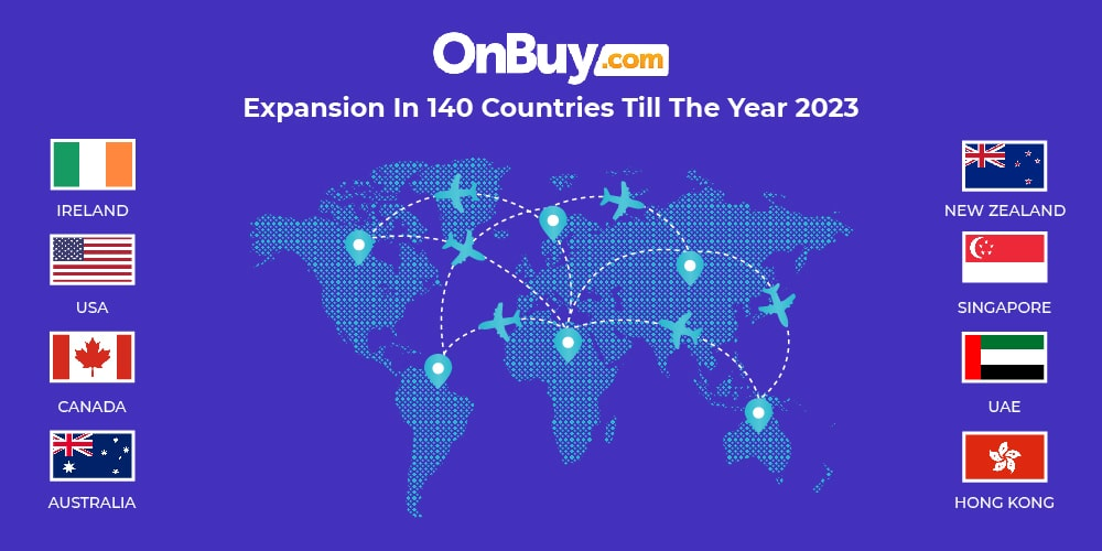 OnBuy expansion in 140 countries