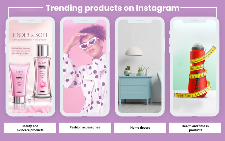 Trending products on Instagram