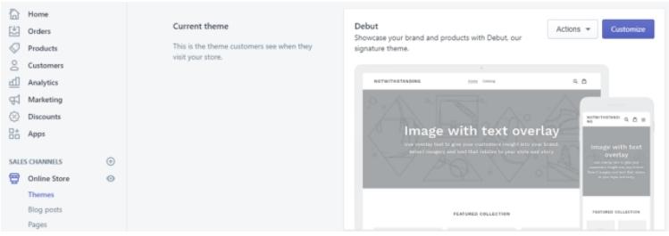 eCommerce platform Shopify