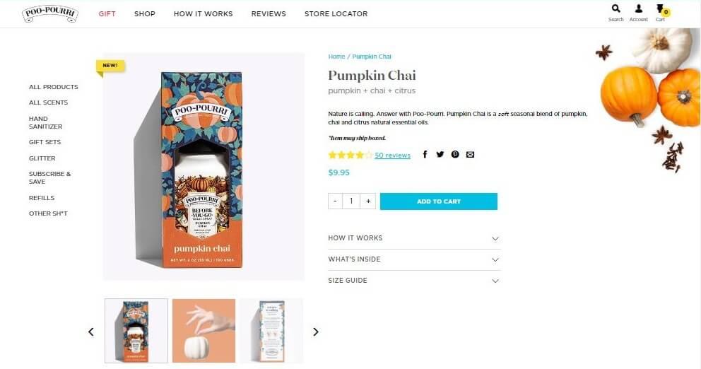 poo-pourri description page