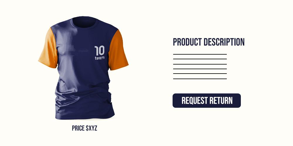 return button product description page