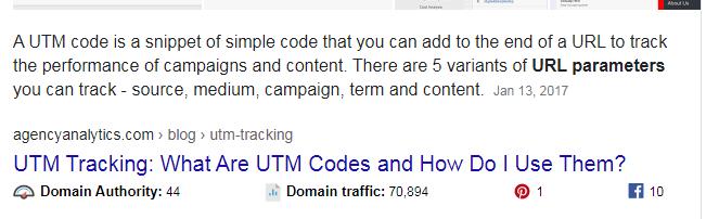 UTM Codes