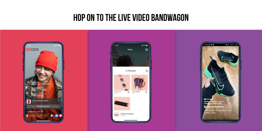 Instagram and Facebook live video
