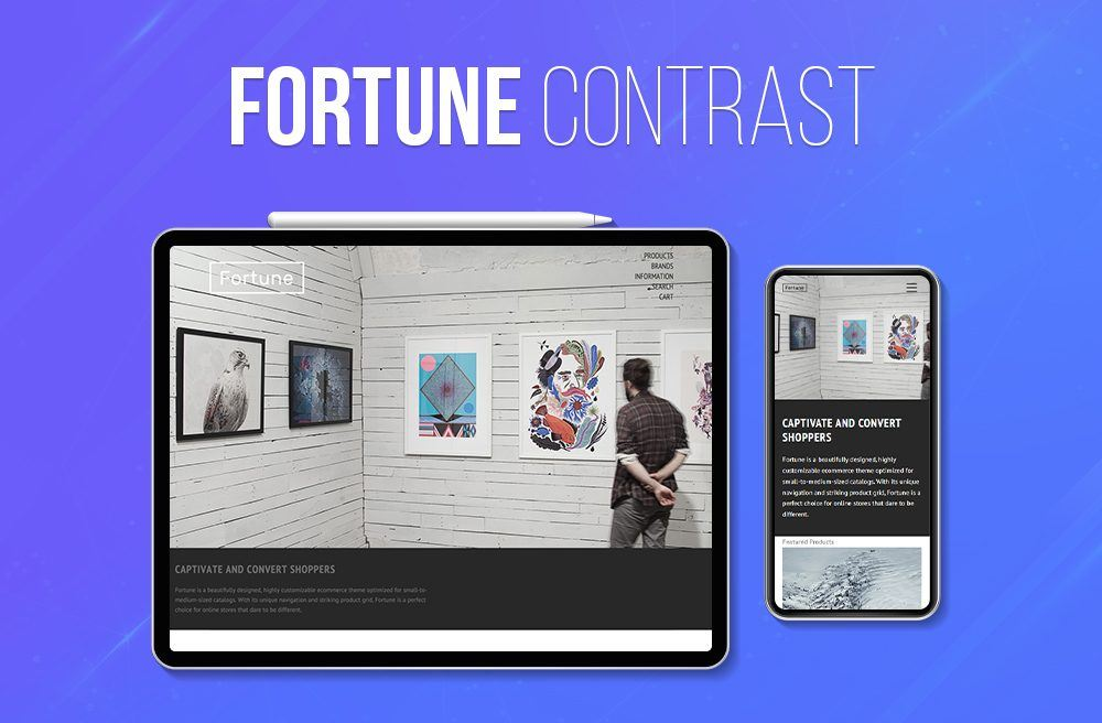BigCommerce Free themes Fortune Contrast