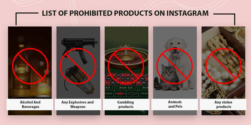 Prohibited products on Instagram