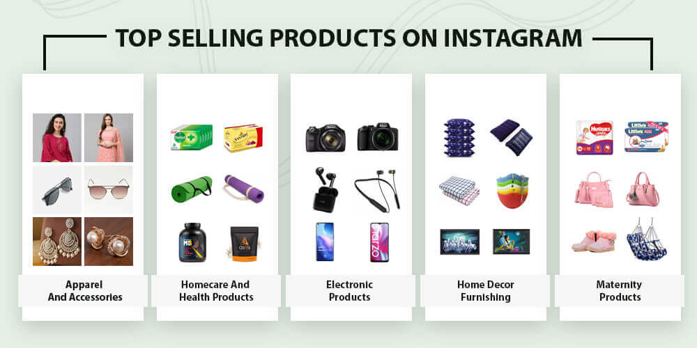 Top products on Instagram