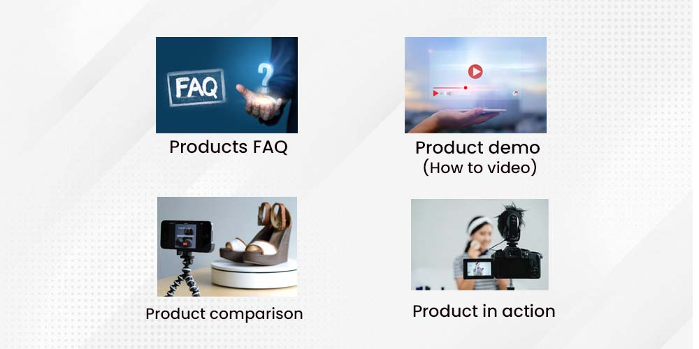 type of product videos
