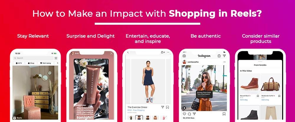 Shopping in Instagram reels
