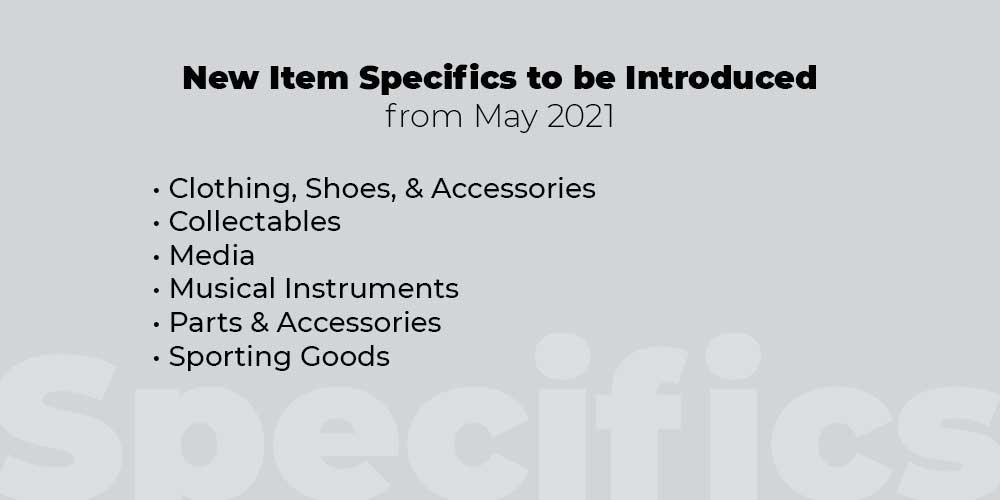 item specifics may 2021