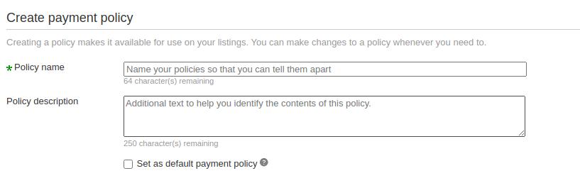 payment policies 1