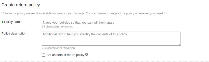 return policies 1