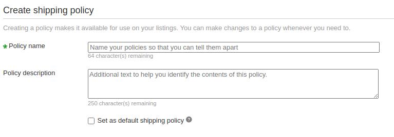 shipping policies 1