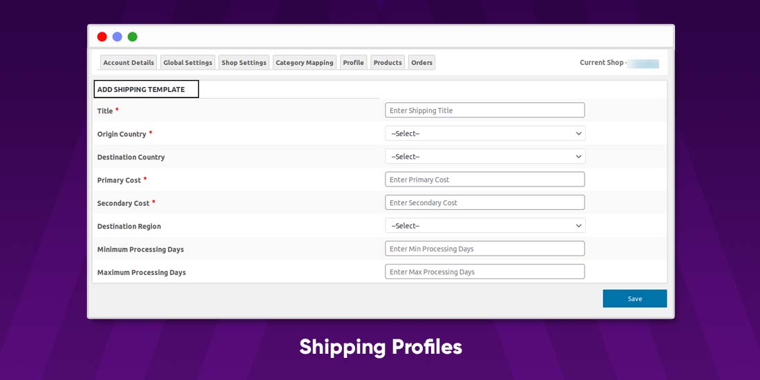 Shipping Profiles Shipping profiles allow you to automate your shipping process. There are certain conditions according to which the shipping rates are decided by origin, the weight of the product, Destination to be delivered, etc. When you list your product available at both stores and link them, the shipping price is automatically updated on each store, But you can make changes on your Etsy store.