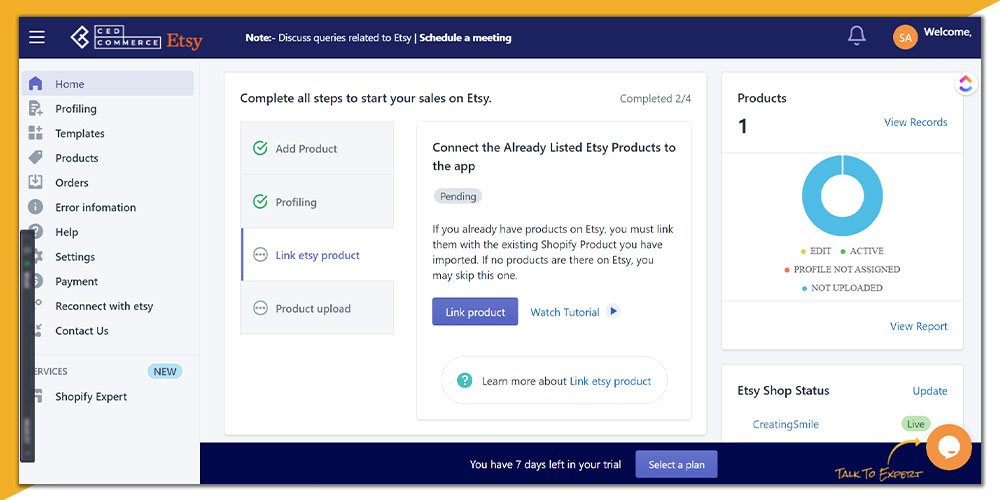 product linking