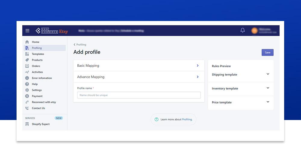 Etsy marketplace Integration app