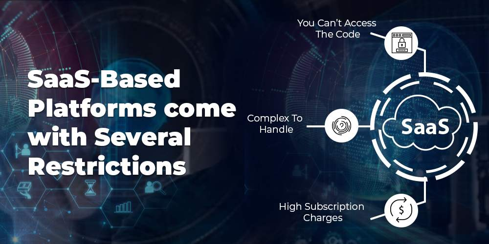 Numerous restrictions of SaaS based platforms