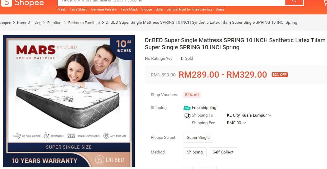 Shopee price