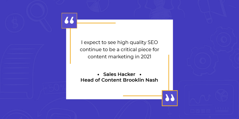 Quote on content marketing